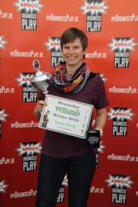 Die Siegerin der 8. Deutschen Wizard-Meisterschaft Susanne Schmidt